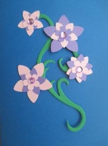 Set creativ 20 felicitari albastre cu flori1