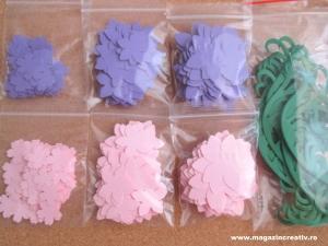 Set creativ 20 felicitari albastre cu flori2