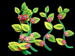 Set decorativ crengute cu flori0