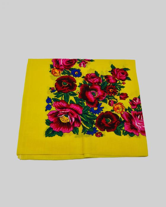 Batic Traditional cu Imprimeu Floral 6