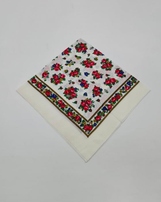Batic Traditional cu Imprimeu Floral 0
