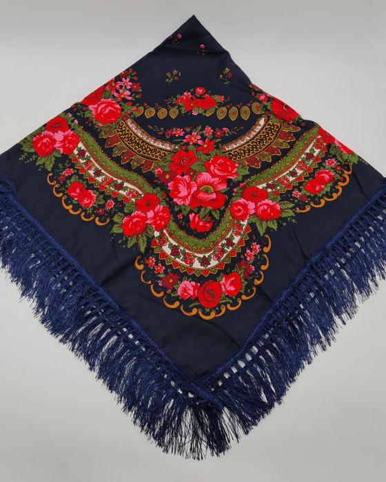 Batic Traditional cu Imprimeu Floral 3