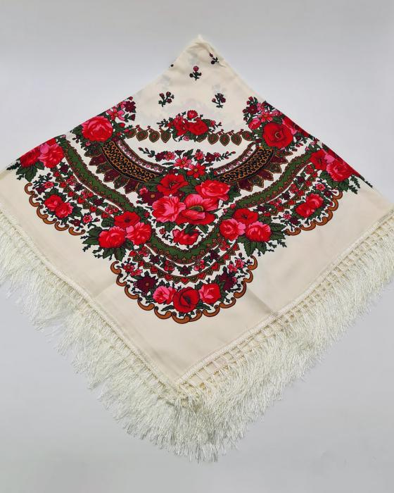Batic Traditional cu Imprimeu Floral 8