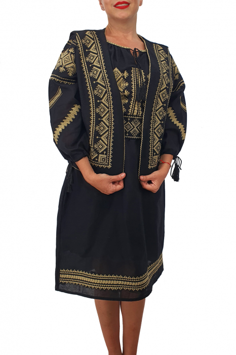 Costum Traditional - Vesta / Rochie / Brau cu model traditional 2