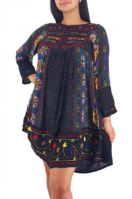 Rochie/Bluza brodata cu imprimeu floral Oana 13 2