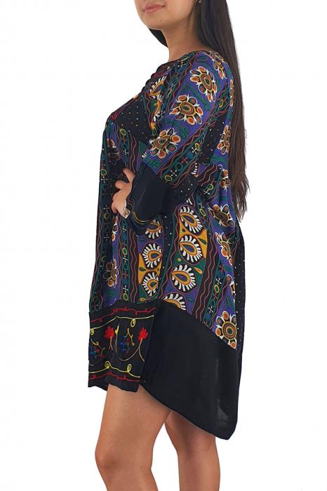 Rochie/Bluza brodata cu imprimeu floral Oana 13 3