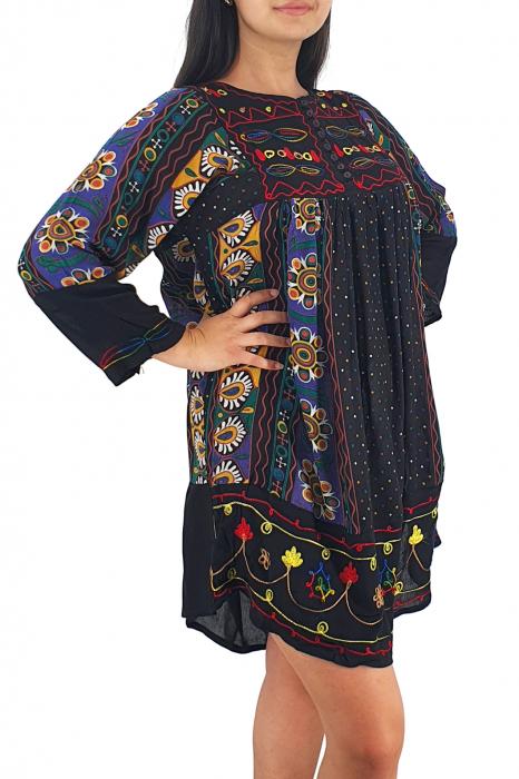 Rochie/Bluza brodata cu imprimeu floral Oana 13 1