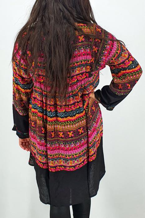 Rochie/Bluza brodata cu imprimeu floral Oana 9 4