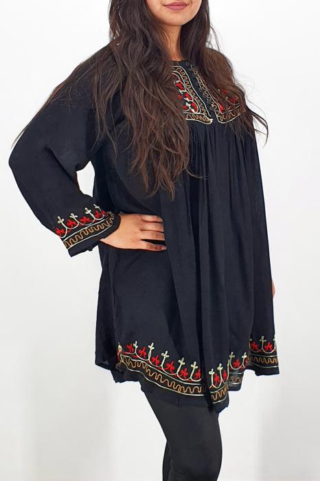 Rochie/Bluza brodata cu imprimeu floral Oana 7 1