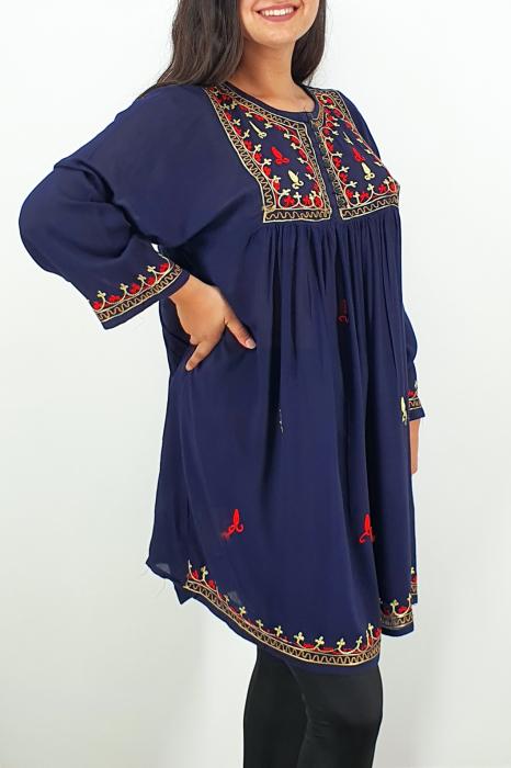 Rochie/Bluza brodata cu imprimeu floral Oana 8 2