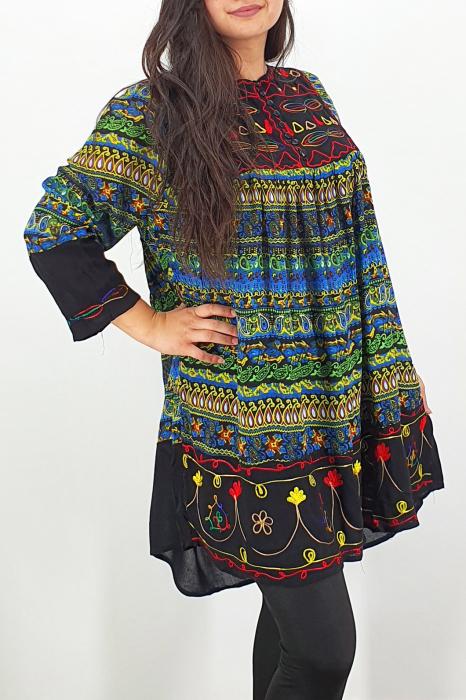Rochie/Bluza brodata cu imprimeu floral Oana 10 1