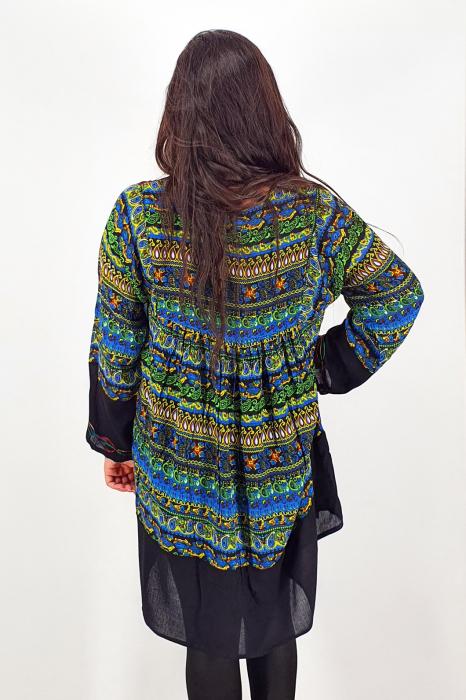 Rochie/Bluza brodata cu imprimeu floral Oana 10 3