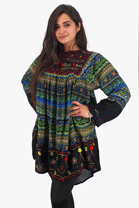 Rochie/Bluza brodata cu imprimeu floral Oana 10 0