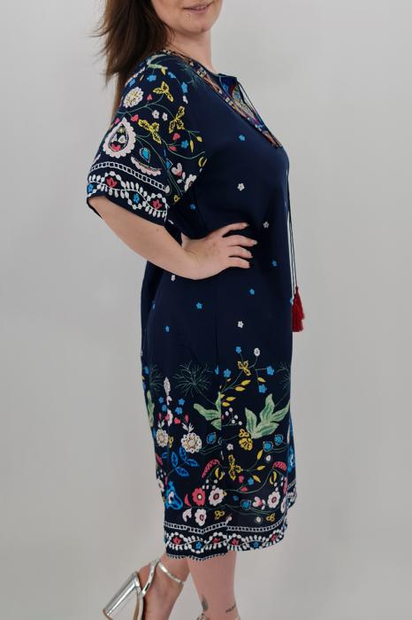 Rochie brodata si cu imprimeu floral [1]