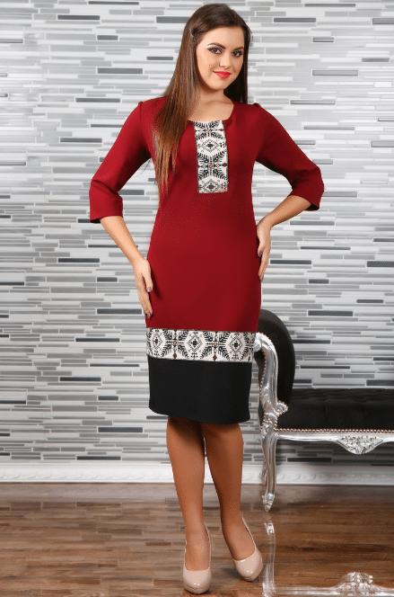 Rochie Stilizata cu Motive Traditionale Camila 4 0