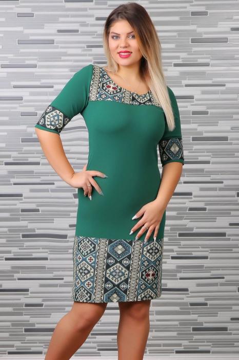 Rochie Stilizata cu Motive Traditionale Aylin 0