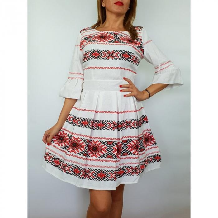 Rochie stilizata cu motive traditionale Nicoleta 3 0