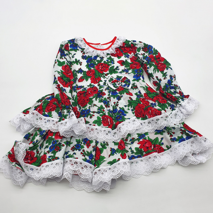 Rochita cu tematica florala de la 1 an la 3 ani Alb 0