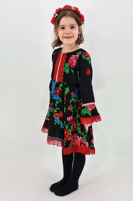 Rochita cu tematica florala de la 4 an la 6 ani - 3 1