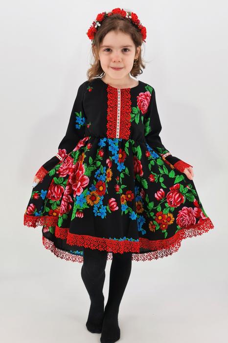 Rochita cu tematica florala de la 4 an la 6 ani - 3 0