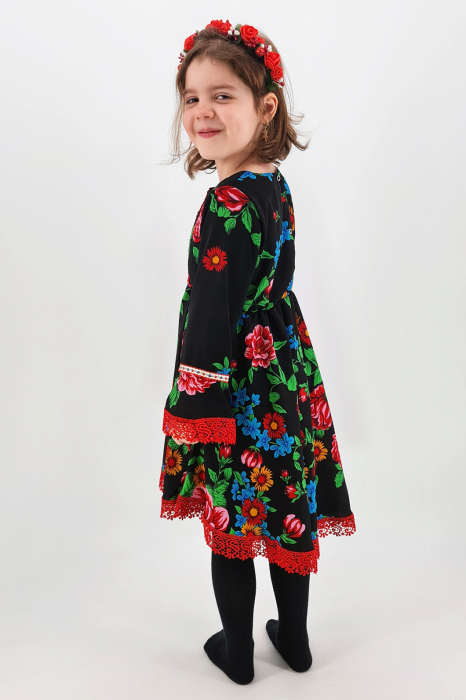 Rochita cu tematica florala de la 4 an la 6 ani - 3 2