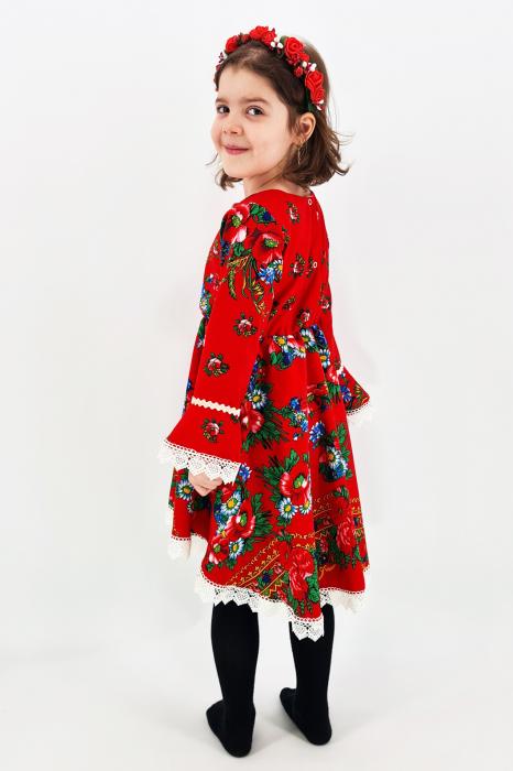 Rochita cu tematica florala de la 4 an la 6 ani - 2 2