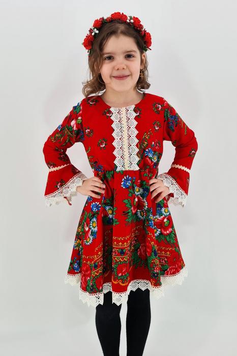 Rochita cu tematica florala de la 4 an la 6 ani - 2 0