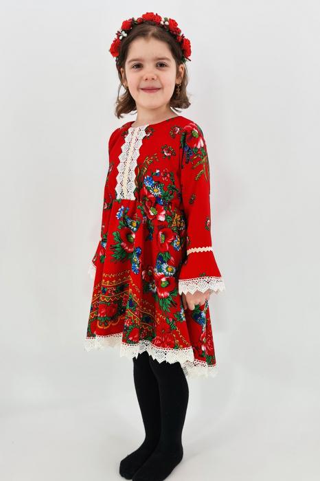 Rochita cu tematica florala de la 4 an la 6 ani - 2 1