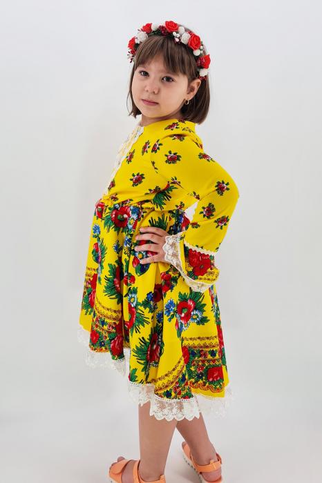 Rochita cu tematica florala de la 10 ani la 14 ani - Galben 1