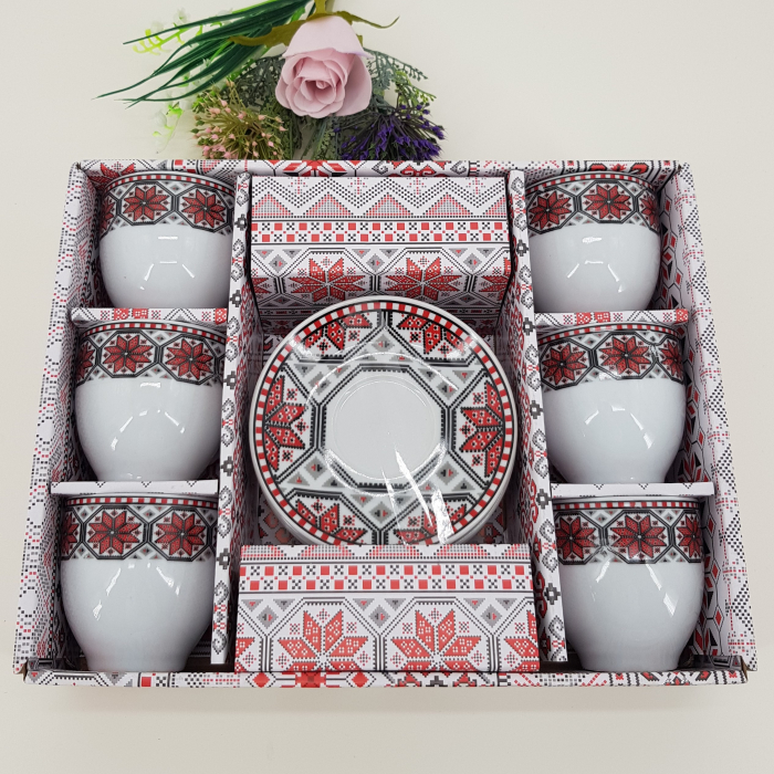 Set cafea cu motive traditionale 0