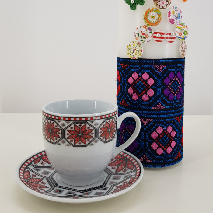 Set cafea cu motive traditionale 2