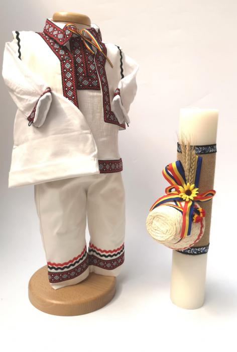 Set Traditional Botez Baiat - Costumas + Lumanare 3 0
