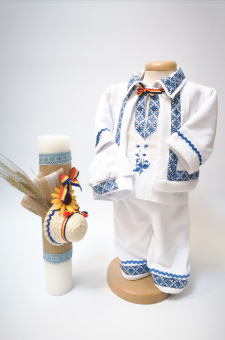 Set Traditional Botez - Costumas baiat/Lumanare baiat 0