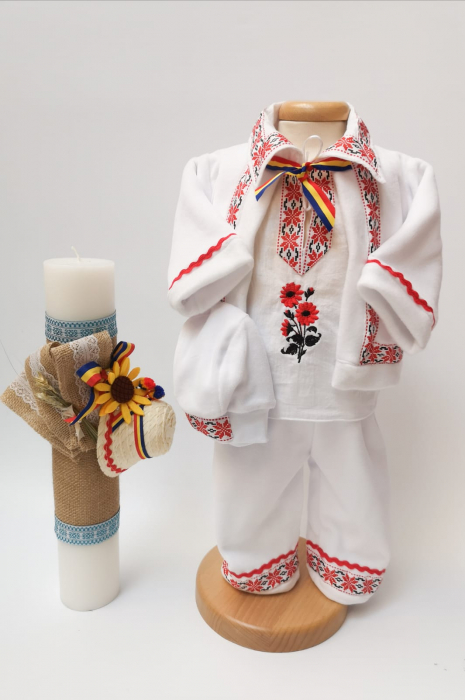 Set Traditional Botez - Costumas baiat/Lumanare baiat 2 0