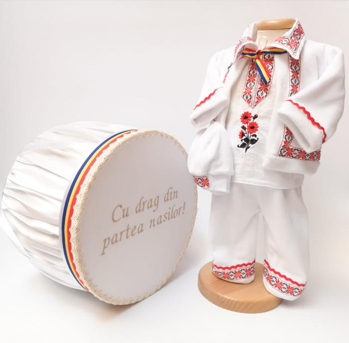 Set Traditional Botez - Costumas baiat Cutie trusou