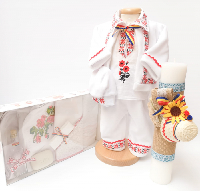 Set Traditional Botez - Costumas baietel/Trusou/Lumanare 3 [0]
