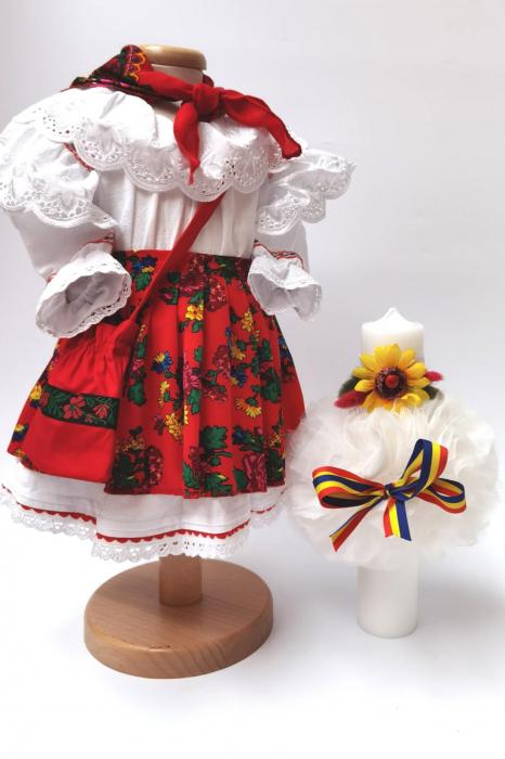Set Traditional Botez - Costumas fetita/Lumanare 8 0