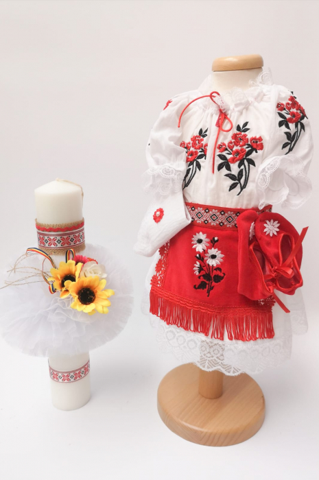 Set Traditional Botez - Costumas fetita/Lumanare 2 [0]