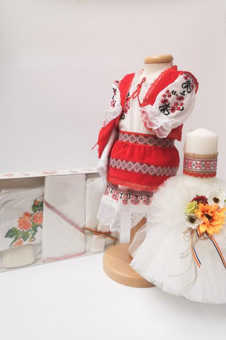 Set Traditional Botez - Costumas fetita/Trusou/Lumanare 4 0