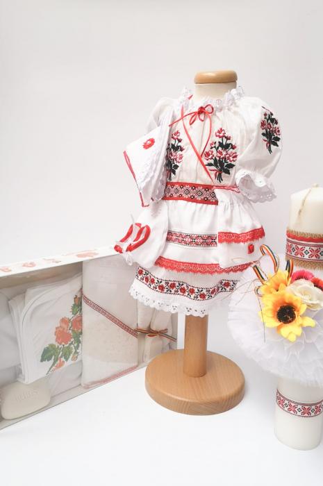 Set Traditional Botez - Costumas fetita/Trusou/Lumanare 2 0