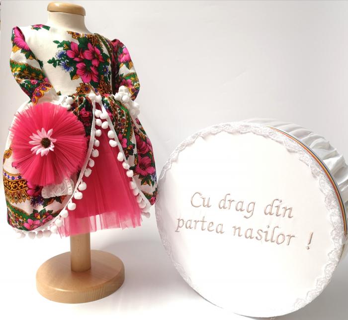 Set Traditional Botez  Fetita - Costumas + Cutie trusou TUL 0