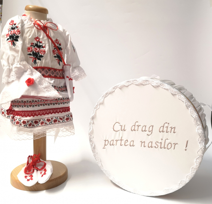 Set Traditional Botez  Fetita - Costumas + Cutie trusou 5 0
