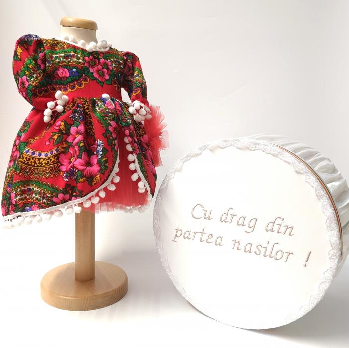 Set Traditional Botez  Fetita - Costumas + Cutie trusou TUL 2 0