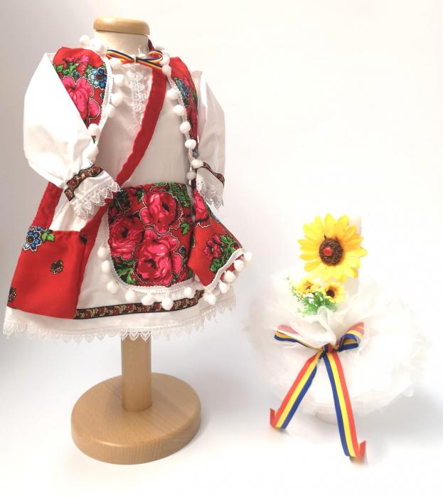 Set Traditional Botez Fetita - Costumas + Lumanare 4 0