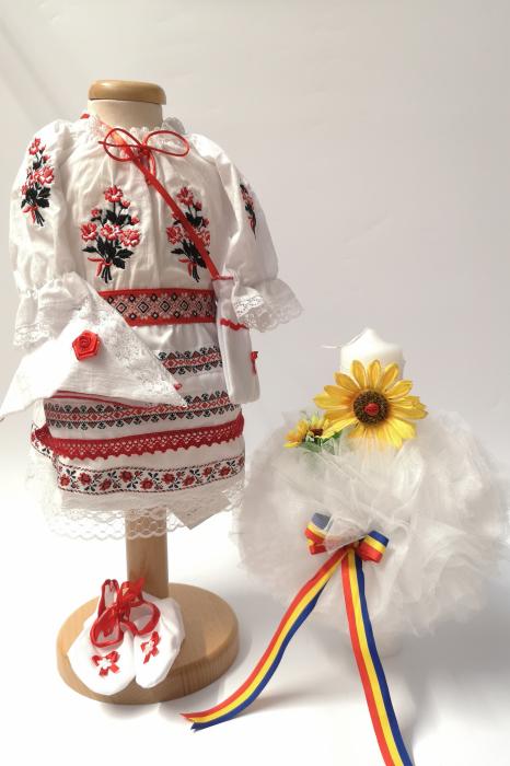 Set Traditional Botez Fetita - Costumas + Lumanare 5 0