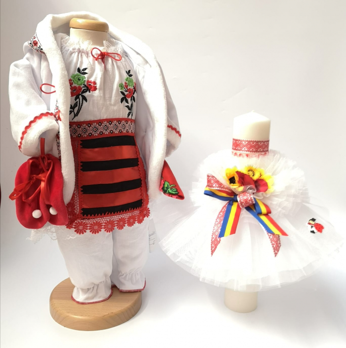 Set Traditional Botez Fetita - Costumas + Lumanare 2 0
