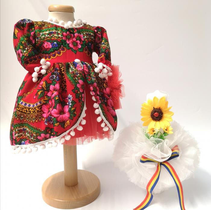 Set Traditional Botez Fetita - Costumas + Lumanare - TUL 2 0