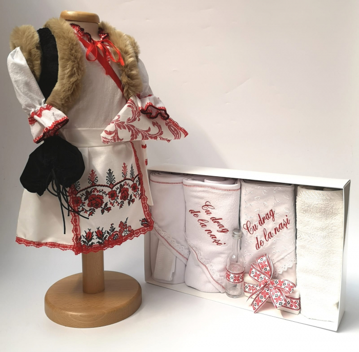 Set Traditional Botez Fetita - Costumas + Trusou 3 0