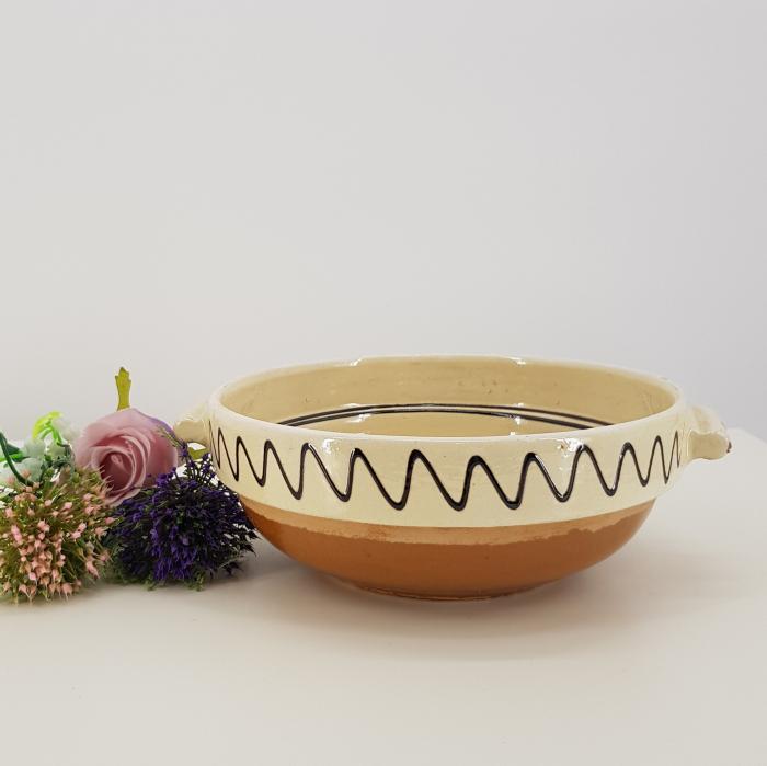 Castron traditional cu manere din ceramica de corund 0