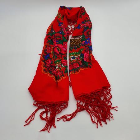 Batic etno mare - Imprimeu floral panza Albastra8